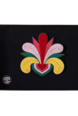 Macon & Lesquoy Large Mad love embroidered brooch