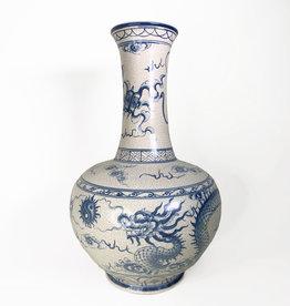 Vintage Vintage large hand-painted vase