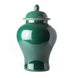 Temple jar in imperial green