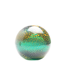 Glass ball in ocean colors  - Large