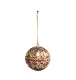 Christmas ornament ball with stones