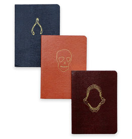Sloane Stationary Set of 3 A6 softcover notebooks - Bones