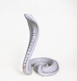Vintage Ahura white ceramic cobra
