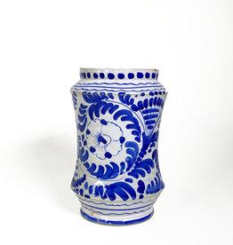 Ceramic white and blue vase