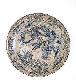 Vintage Vintage large hand-painted plate
