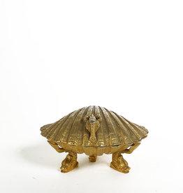 Vintage brass shell box