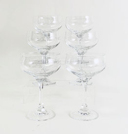 Set of six vintage  champagne glasses