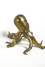 Octopus candle holder brass