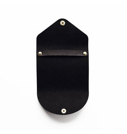 Yamama Leather cover for sticky notes - Black leather