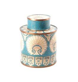 Fabienne Jouvin Cloisonné enameled tea box, Turkmen turquoise