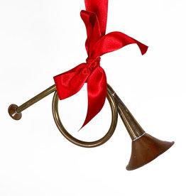Vintage Small vintage christmas trumpet ornament