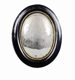 19th Century Witch Mirror Oval Large