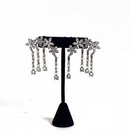 Vintage Oscar de la Renta sparkling earrings