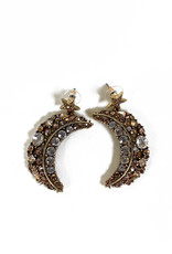 Vintage Oscar de la Renta Moon and Stars earrings