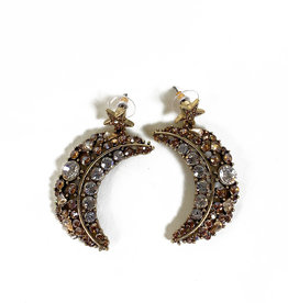 Vintage Oscar de la Renta Moon and Star earrings