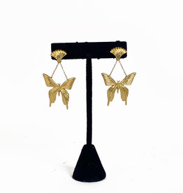 Vintage Oscar de la Renta dangle butterfly earrings