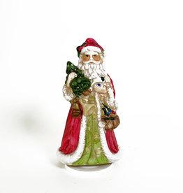 Vintage Porcelain Santa with toys music box