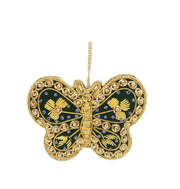 Butterfly beaded ornament