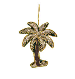 Palmtree embroidered ornament