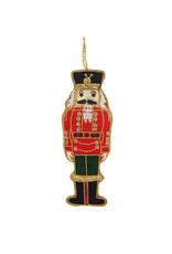Nutcracker embroidered ornament