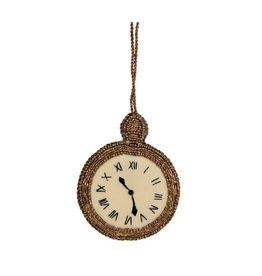 Pocket watch beaded ornament