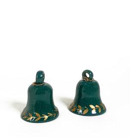 Vintage Green terracotta Christmas bell