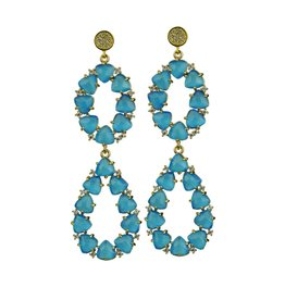 Katerina Psoma Blue stone dangle  earrings