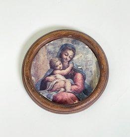 Vintage Little frame with print ' Madonna della Scala'