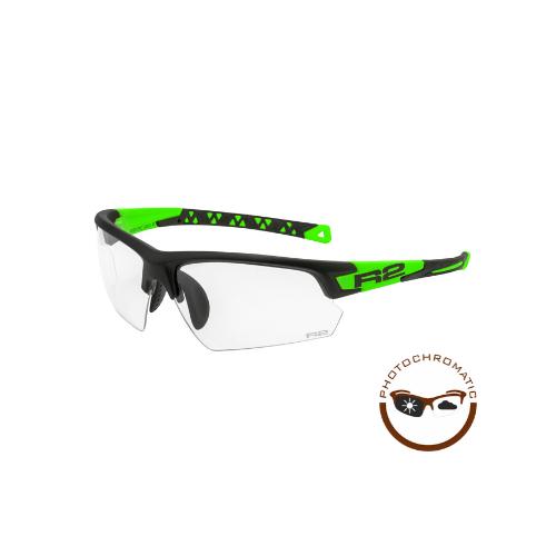 R2 Evo Sport Zonnebril Zwart/Groen