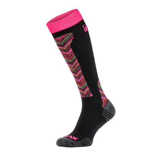 Relax Carve Skisokken Zwart/Roze