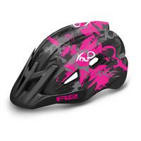 Wheelie Fietshelm Zwart/Roze voor Kinderen