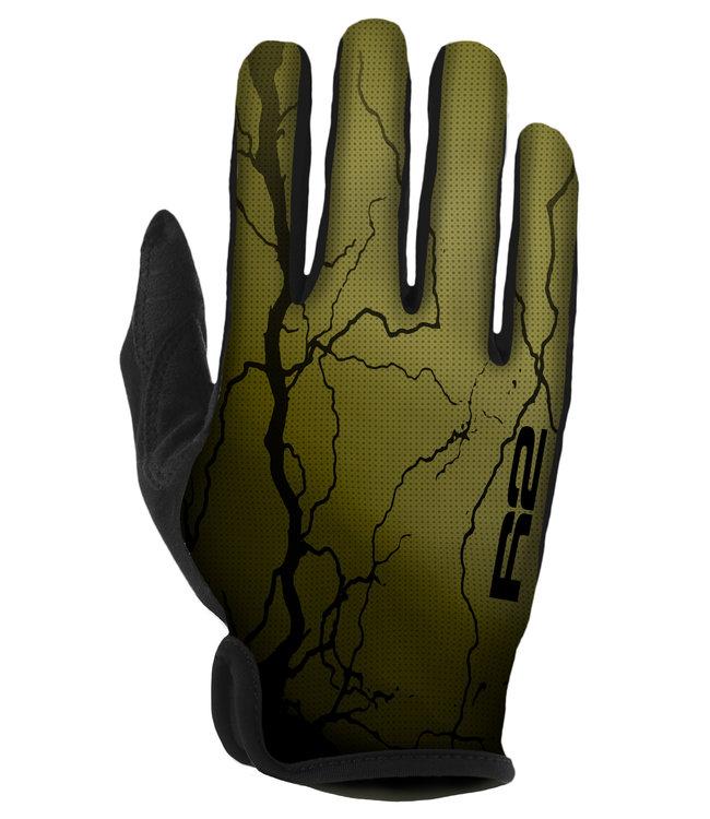 R2 Flash Fietshandschoenen Zwart/Groen