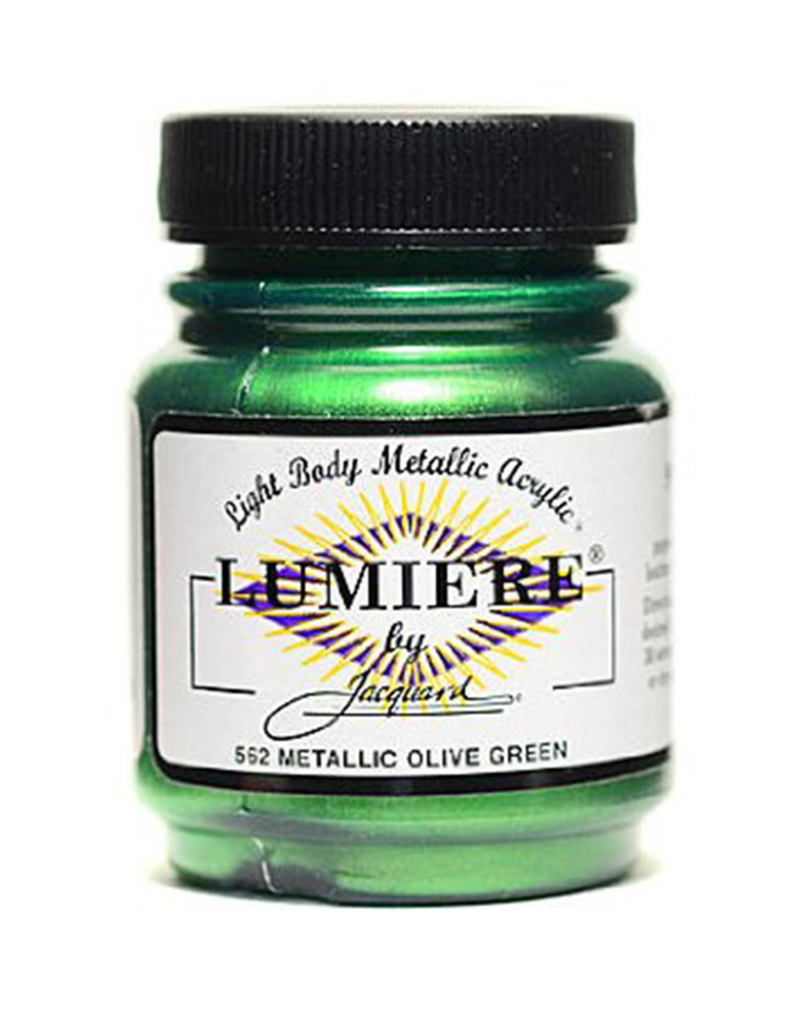 Jacquard Lumiere Metallic Olive Green