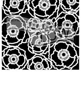 Stencil Poppy Field