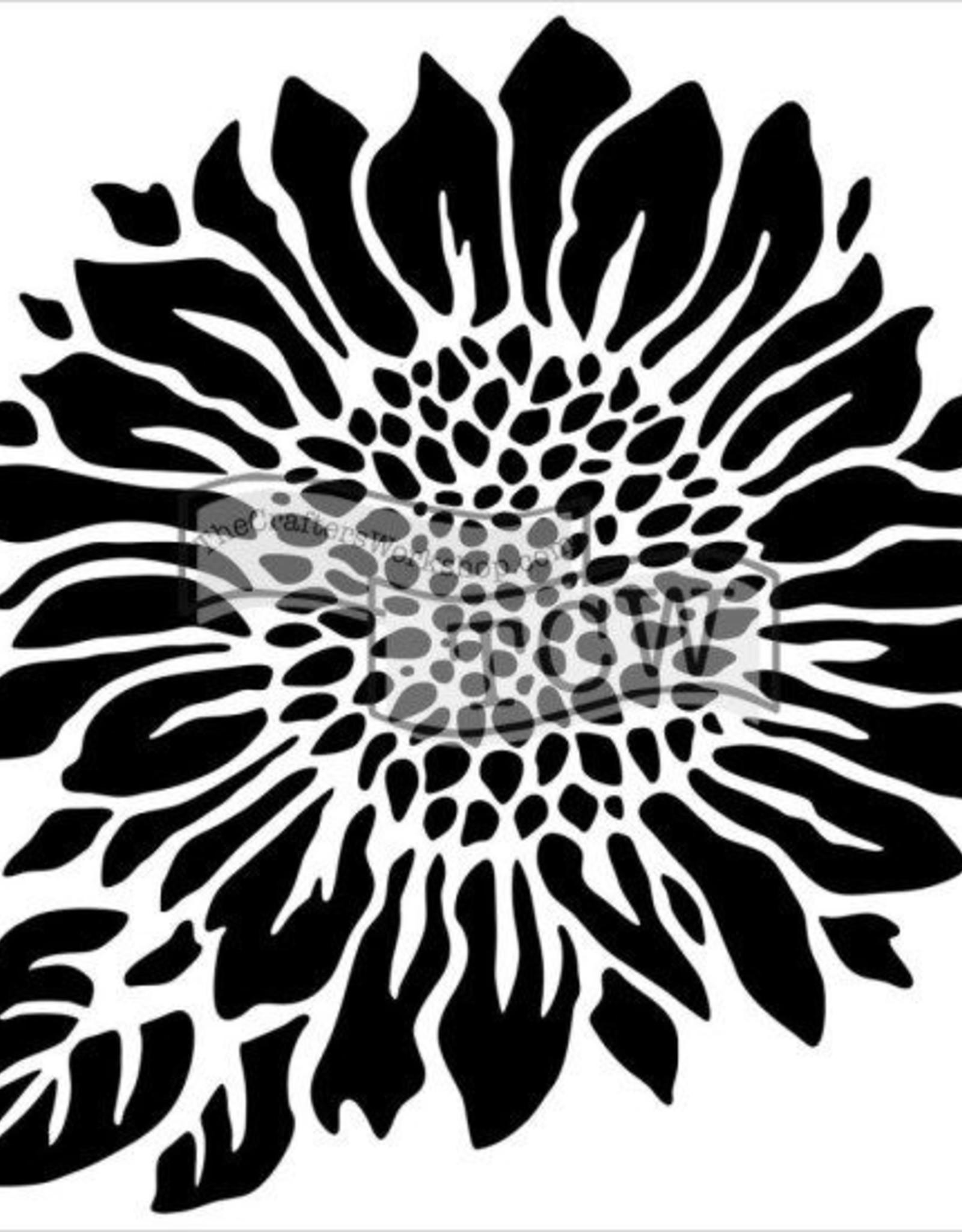 Stencil Joyful Sunflower