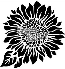 Stencil Joyful Sunflower