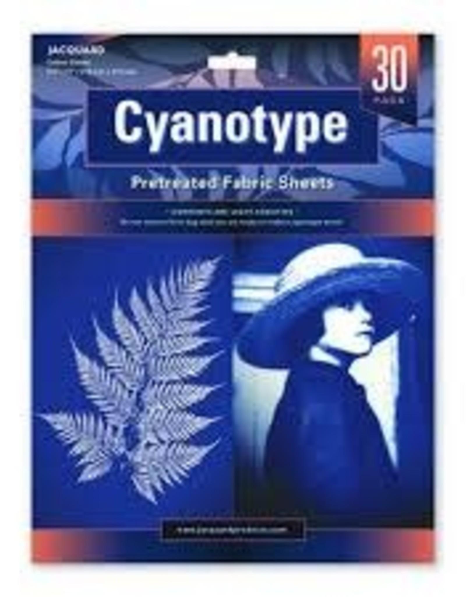 Jacquard Cyanotype Pretreated Fabric 30 Sheets