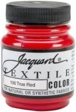 Jacquard Textile Color True Red