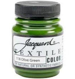 Jacquard Textile Color Olive Green