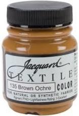 Jacquard Textile Color Brown Ochre