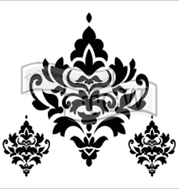 Stencil Damask Decor