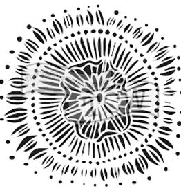 Stencil Floral Eclipse