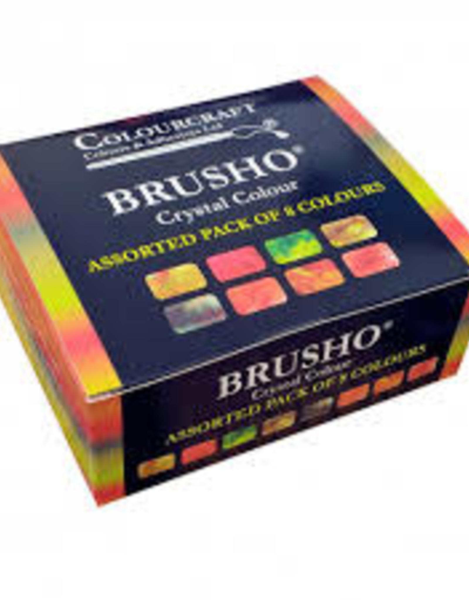Brusho set van 8