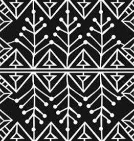 Stencil Snow Branche