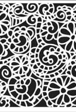 Stencil Swirly Garden
