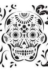 Stencil Mexican Skull
