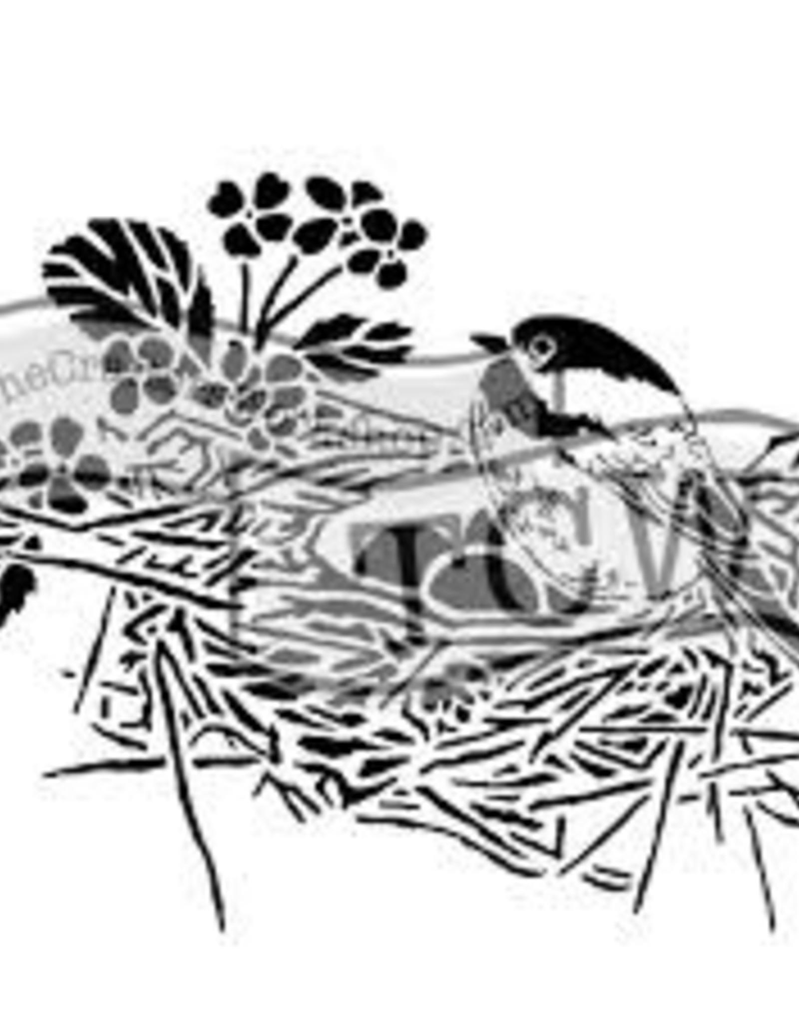 Stencil Bird Nest