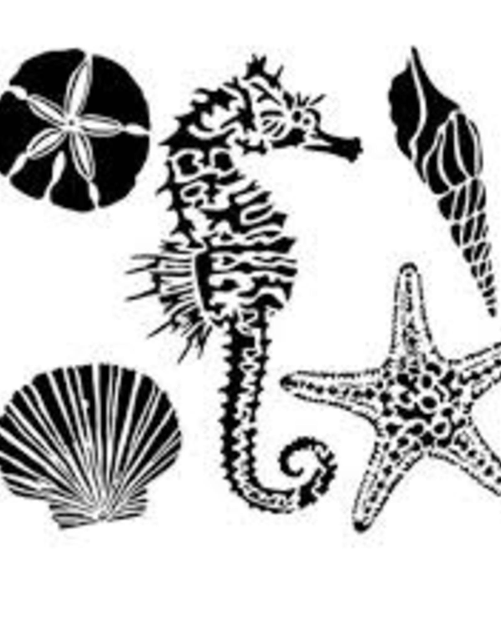 Stencil Sea Creatures
