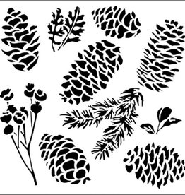 Stencil Pinecones