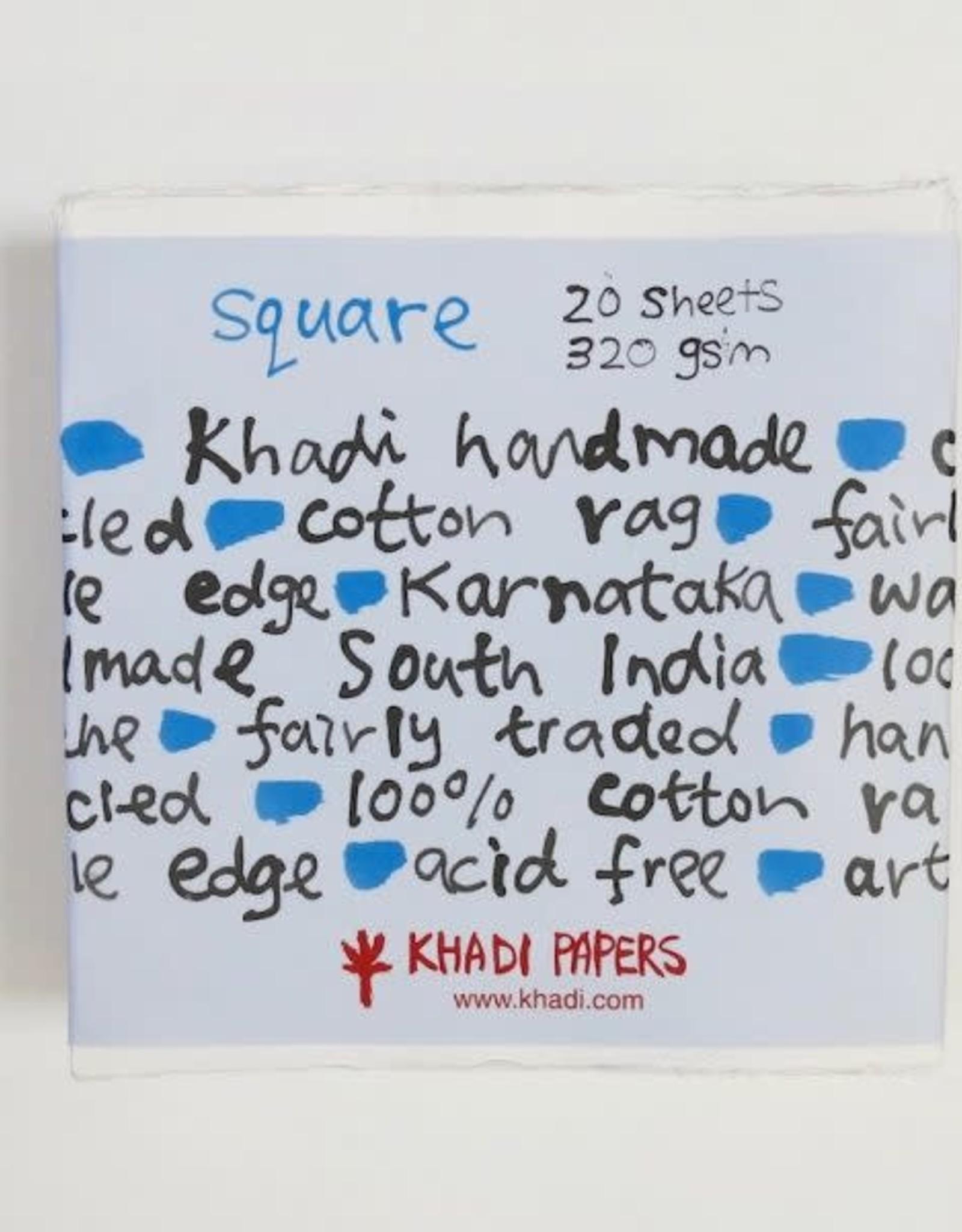 Khadi Katoen Papier Vierkant 20 x 20cm 20 vellen